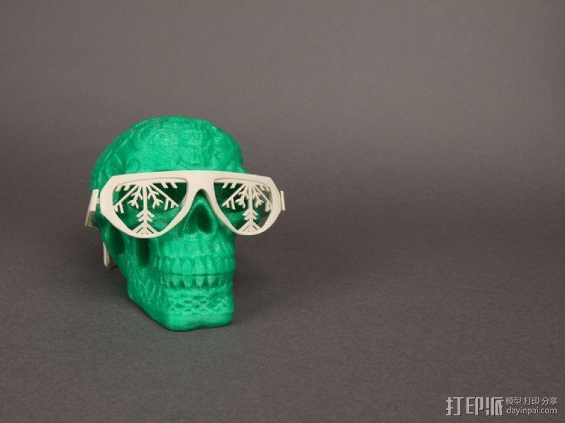 雪花墨镜 3D模型  图1