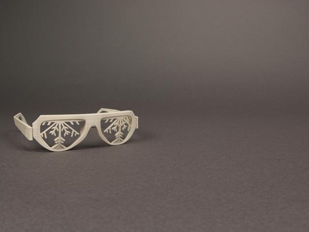 雪花墨镜 3D模型  图8