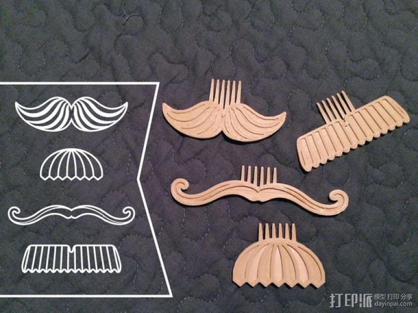 大胡子梳子 3D模型  图1