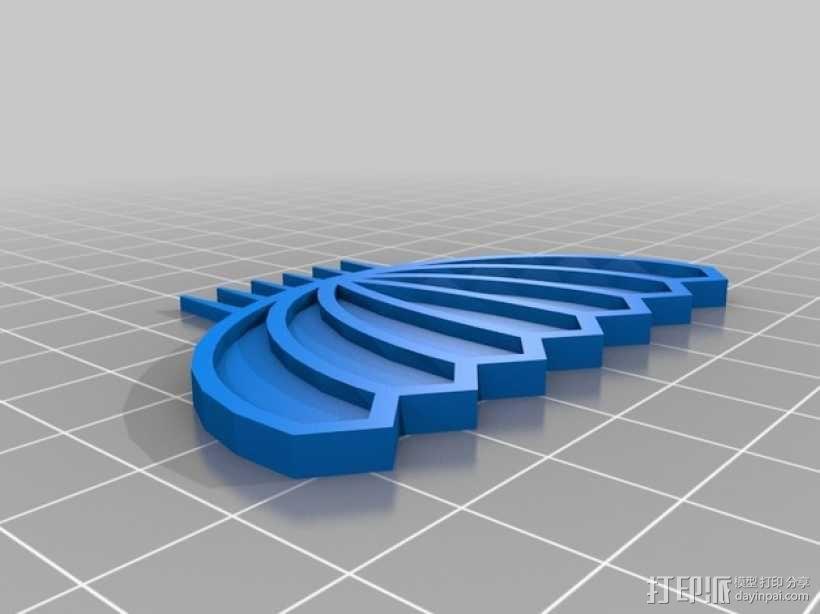 大胡子梳子 3D模型  图3