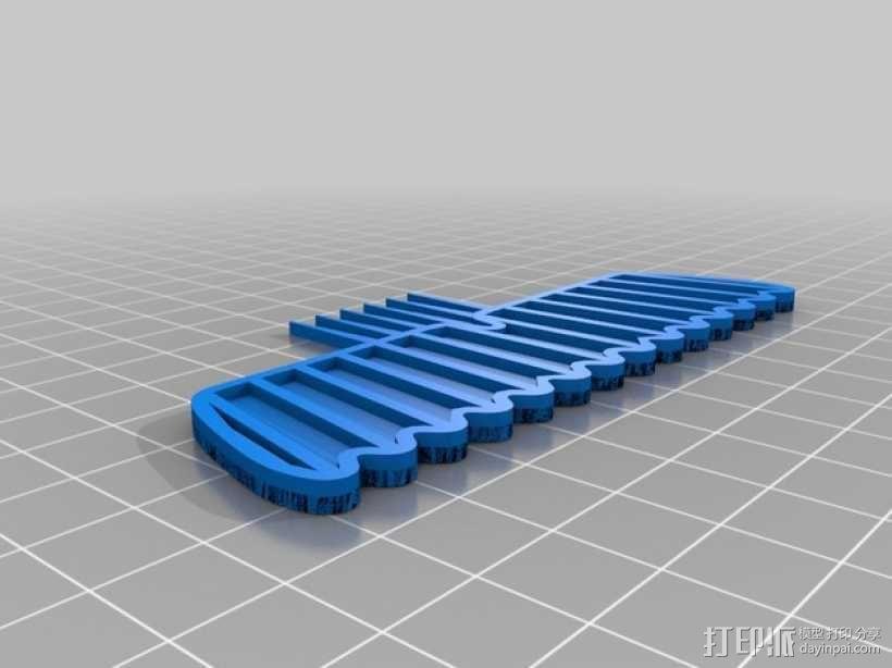 大胡子梳子 3D模型  图5