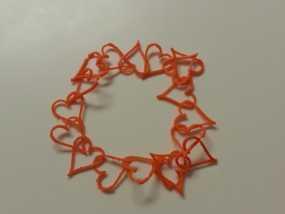 心形锁项链 手镯 3D模型