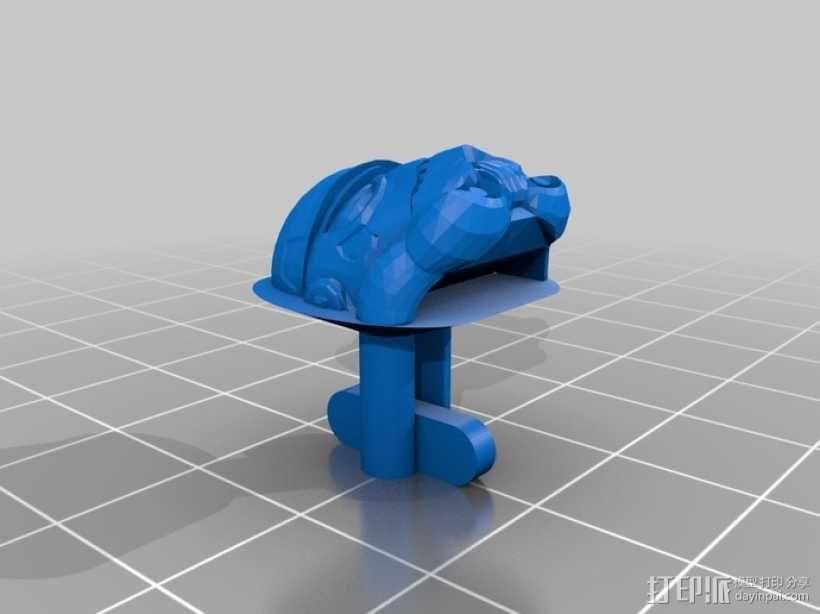 星球大战袖扣 3D模型  图3