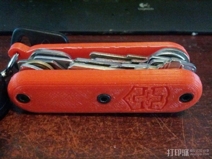 瑞士军刀钥匙扣 3D模型  图1