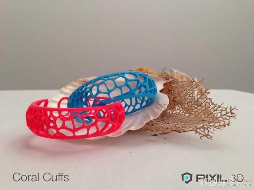 珊瑚手镯 3D模型  图1