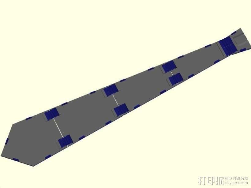 领带 3D模型  图2