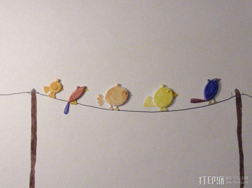 小鸟吊坠 3D模型  图6