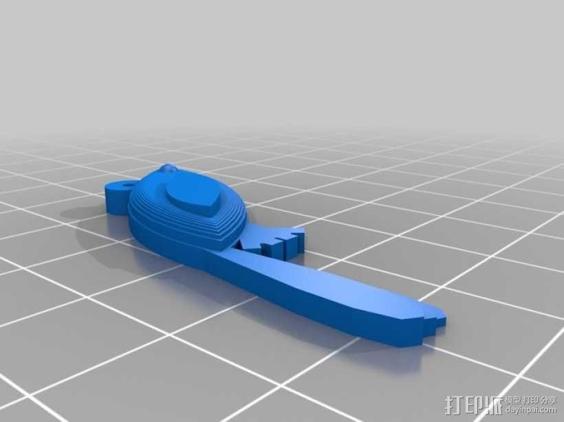 小鸟吊坠 3D模型  图8