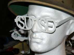 字母眼镜 3D模型