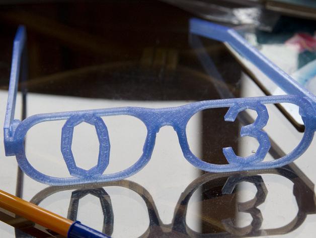 字母眼镜 3D模型  图3