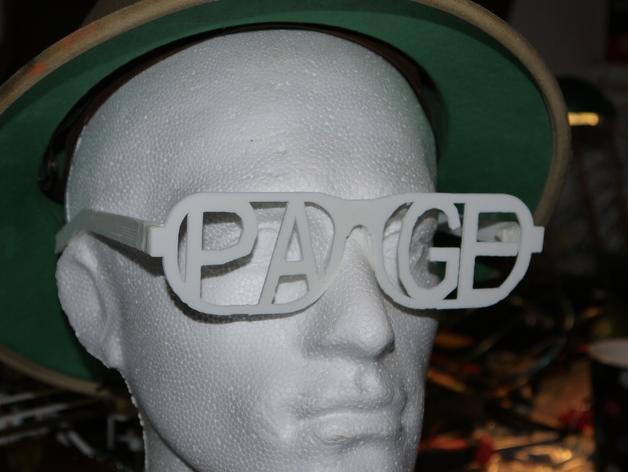 字母眼镜 3D模型  图4