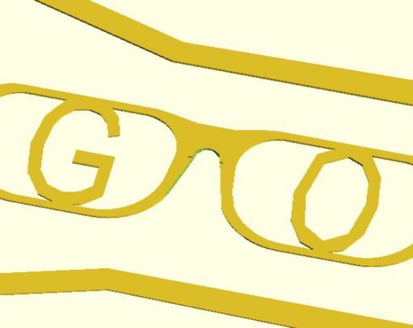 字母眼镜 3D模型  图6