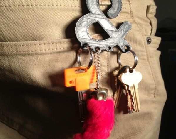 符号钥匙扣 3D模型  图2