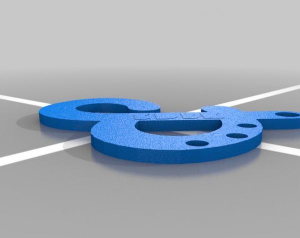符号钥匙扣 3D模型  图3