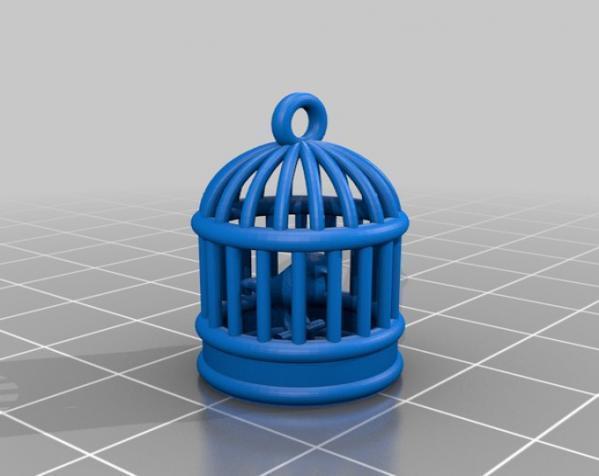 笼中鸟 吊坠 3D模型  图2