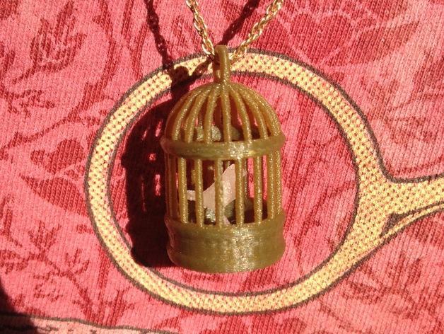 笼中鸟 吊坠 3D模型  图8