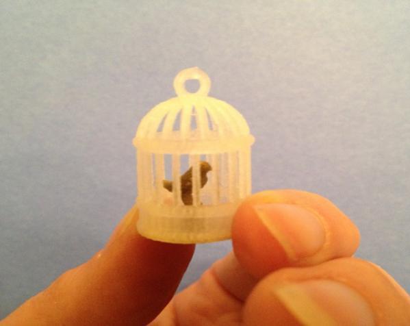 笼中鸟 吊坠 3D模型  图7