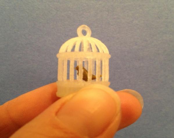 笼中鸟 吊坠 3D模型  图6