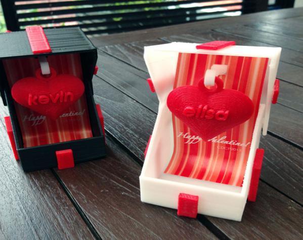 情人节礼品盒 3D模型  图2