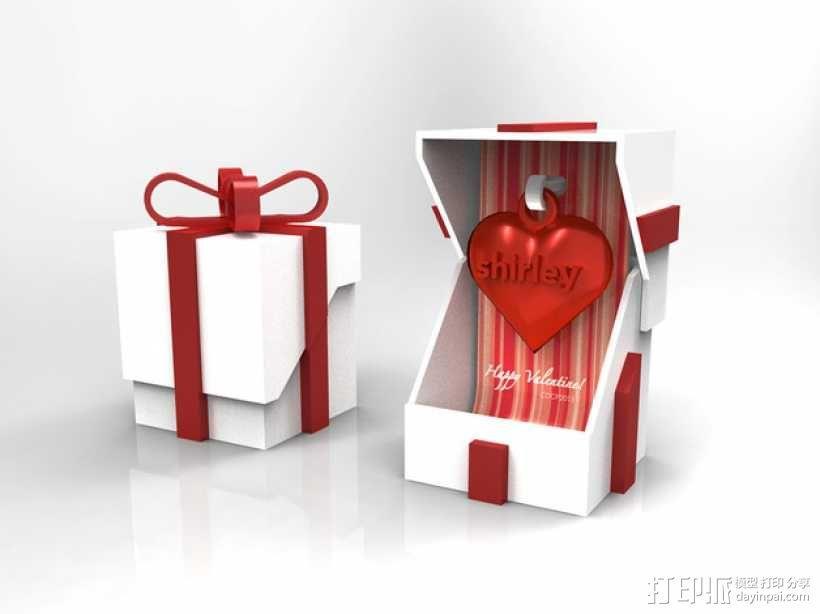情人节礼品盒 3D模型  图1