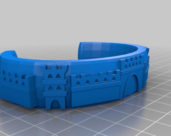 城堡图案手镯 3D模型  图3