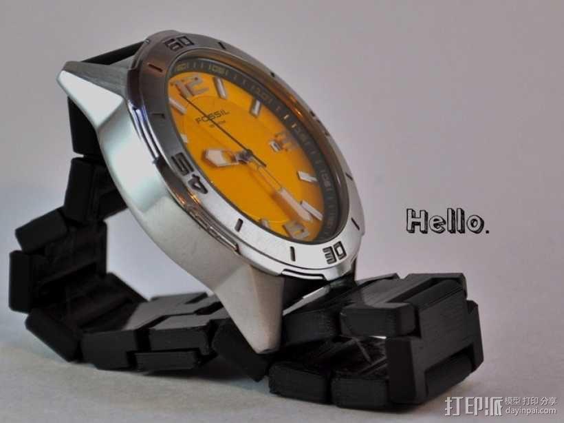 弹簧扣手表带 3D模型  图1