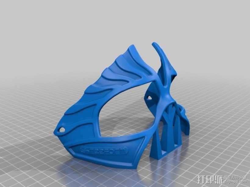 老鹰面具 3D模型  图2