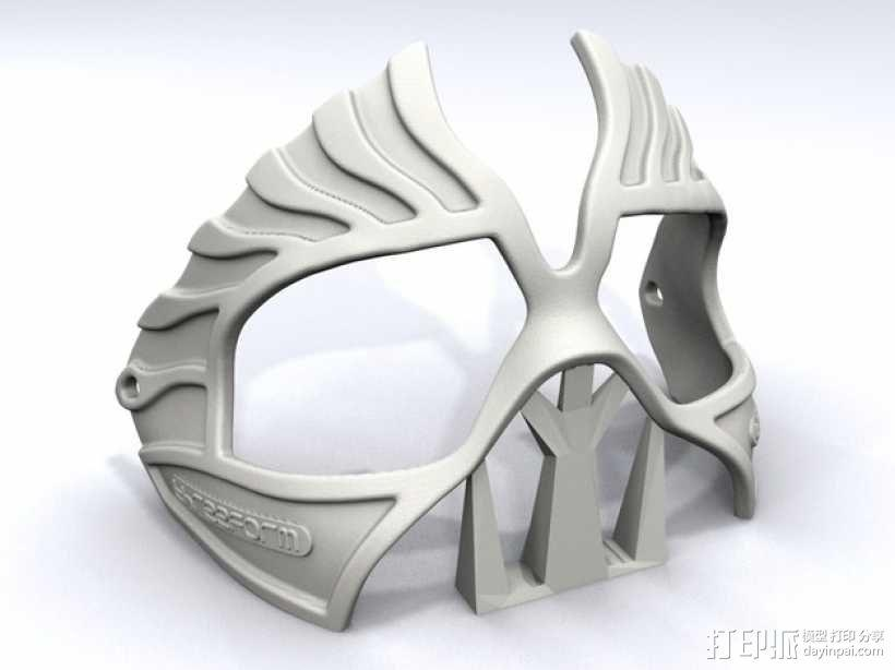 老鹰面具 3D模型  图3