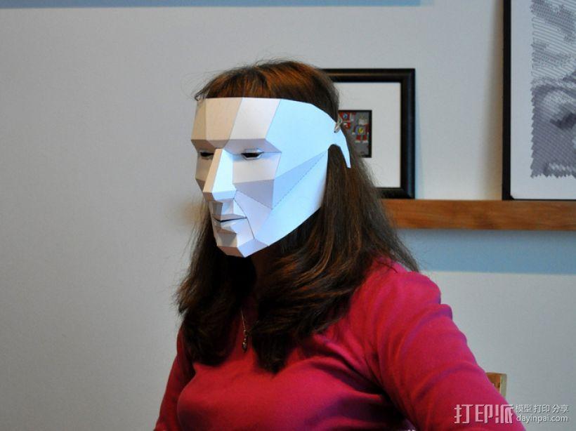 低面数多边形面罩 3D模型  图7