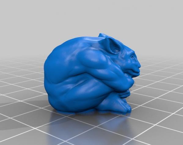 石像怪铅笔头 3D模型  图1