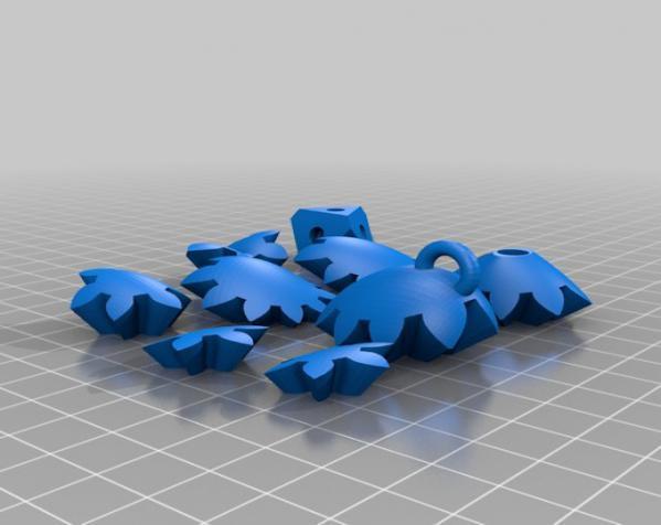 心形钥匙圈 3D模型  图4