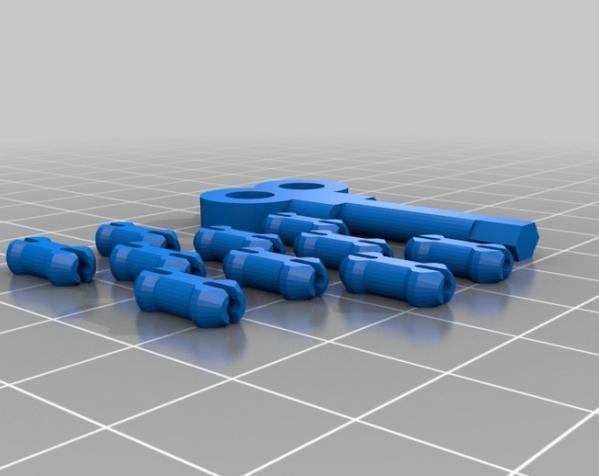 心形钥匙圈 3D模型  图3