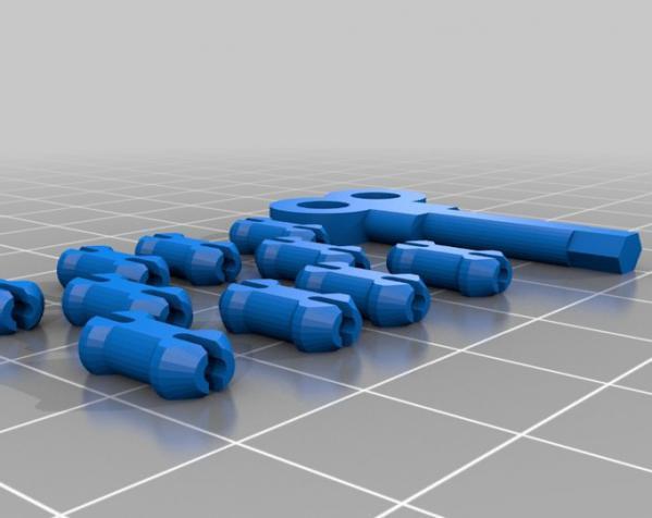 心形钥匙圈 3D模型  图5