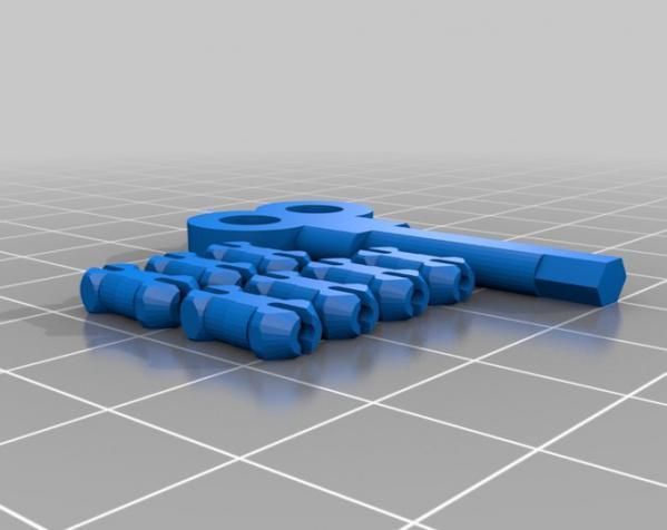 心形钥匙圈 3D模型  图7