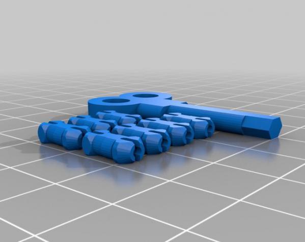 心形钥匙圈 3D模型  图8