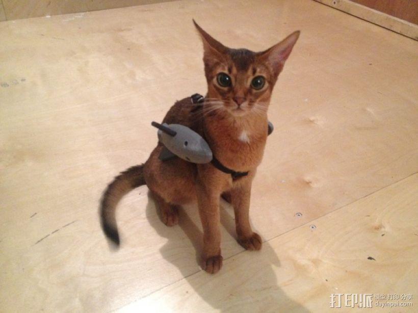 战斗中的猫咪 3D模型  图1