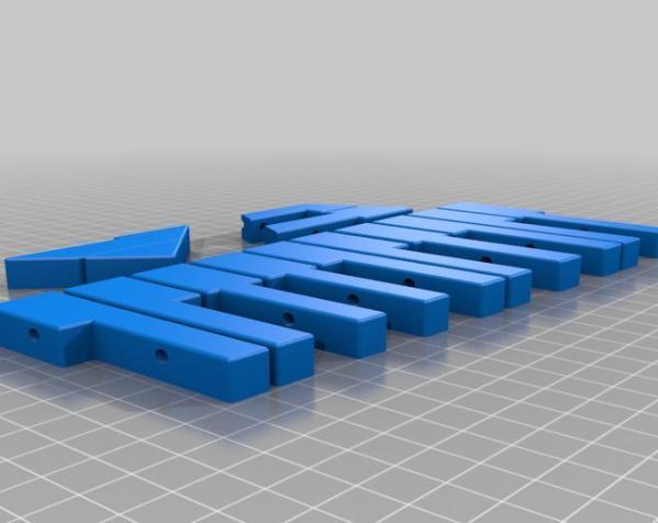 钢琴键领带 3D模型  图2