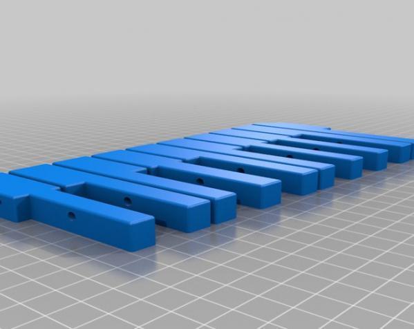 钢琴键领带 3D模型  图1