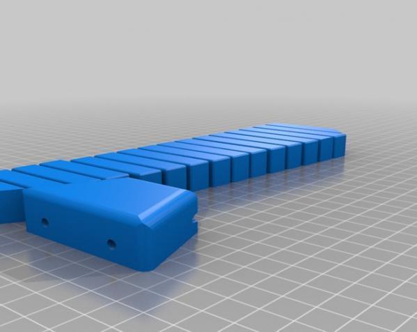 钢琴键领带 3D模型  图3