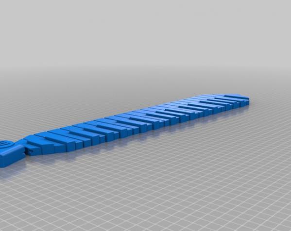 钢琴键领带 3D模型  图4