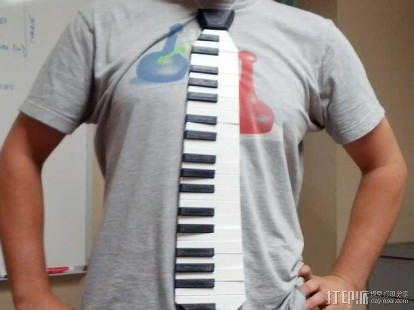 钢琴键领带 3D模型  图5