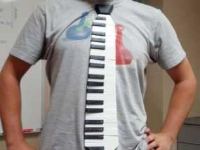 钢琴键领带 3D模型