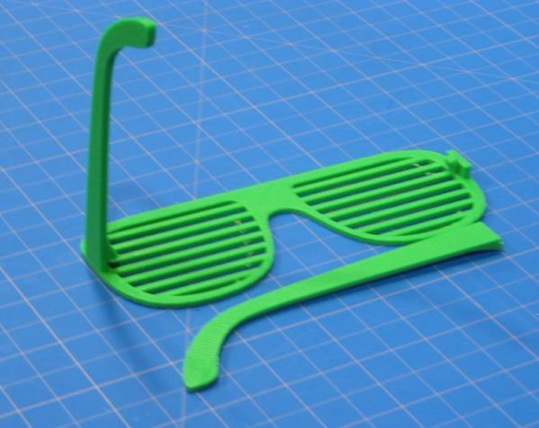 百叶窗式眼镜 3D模型  图2