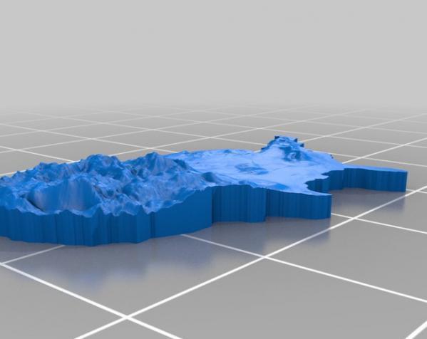 美国国土形吊坠/耳环 3D模型  图2
