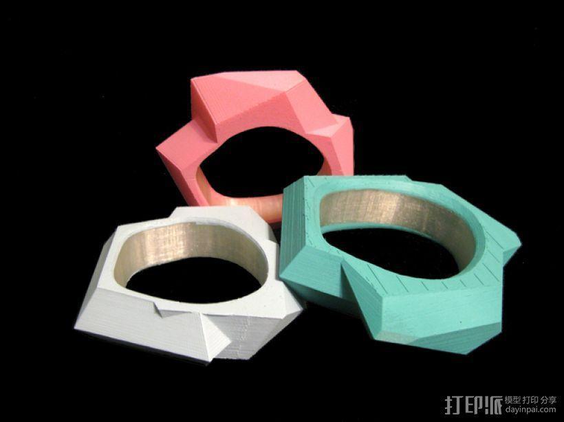 几何手镯 3D模型  图1