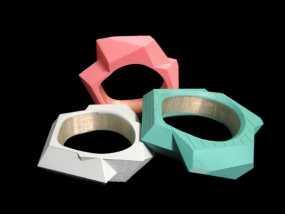 几何手镯 3D模型