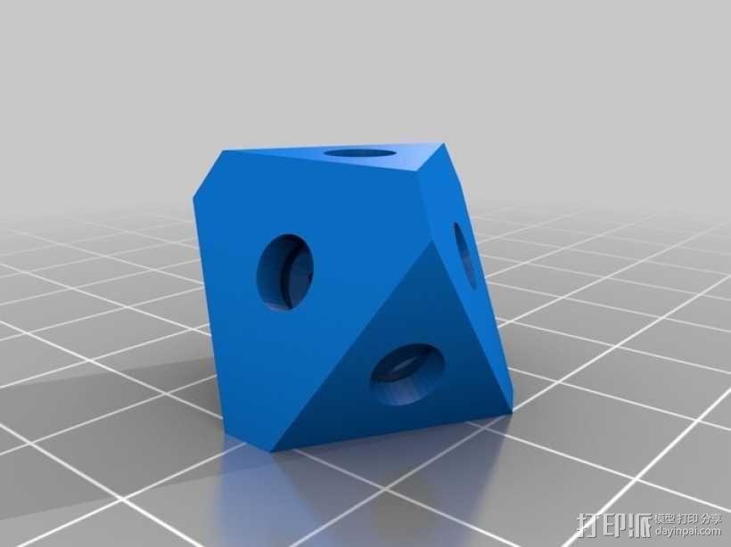 迷你心形齿轮钥匙扣 3D模型  图7