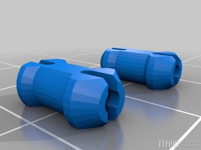 迷你心形齿轮钥匙扣 3D模型  图10