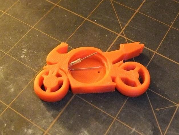 可发光的摩托车形钥匙扣 3D模型  图4