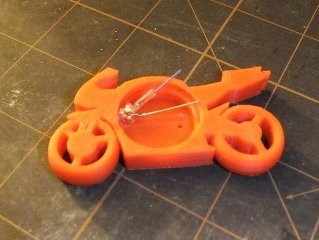 可发光的摩托车形钥匙扣 3D模型  图3